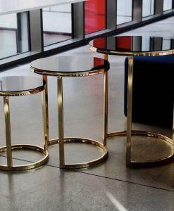 metal ayaklı zigon sehpa gold parlak kaplama çelik paslanmaz istanbul ankara adana izmir antalya