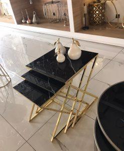 metal kaplama x ayaklı zigon sehpa modeli salon oturma odası luxury